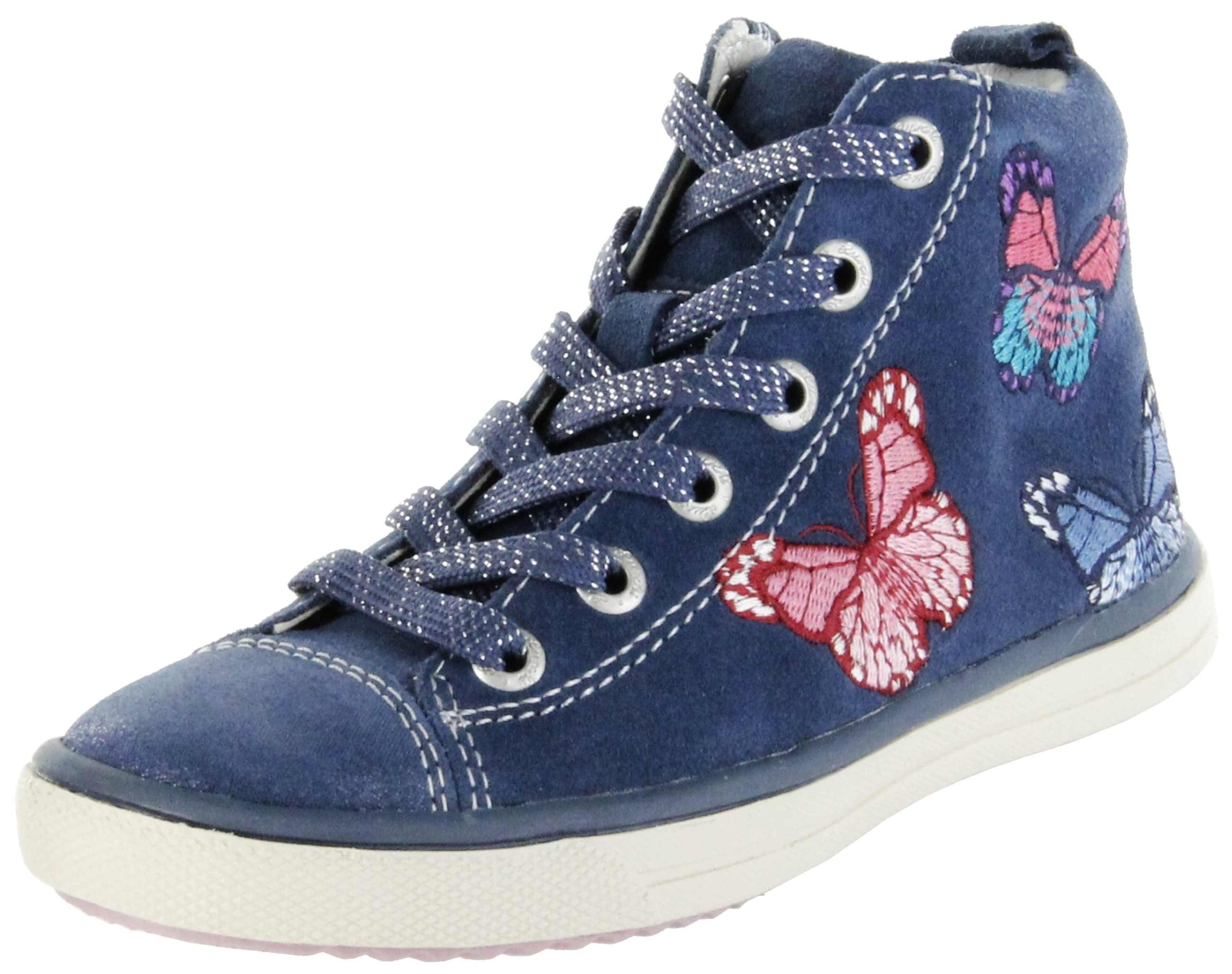 huge selection of 315a2 66dad Lurchi Kinder Halbschuhe Sneaker blau Velourleder Mädchen Schuhe  33-13639-22 Splashy