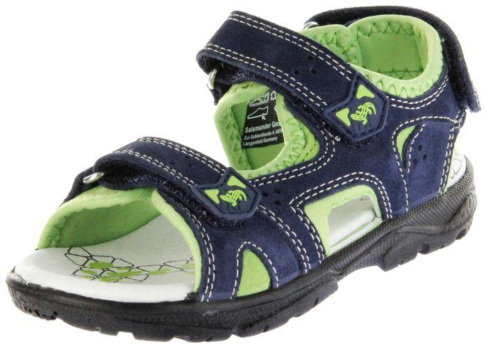 Lurchi Kinder Sandaletten blau Velourleder Lederdeck Jungen Schuhe 33-32004-42 navy Kreon