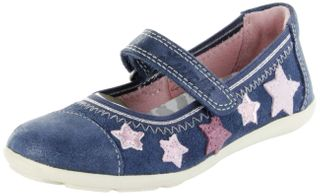 Lurchi Kinder Ballerinas blau Velourleder Mädchen-Schuhe 33-14964-42 Jeans Mila – Bild 1