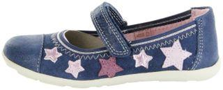 Lurchi Kinder Ballerinas blau Velourleder Mädchen-Schuhe 33-14964-42 Jeans Mila – Bild 2