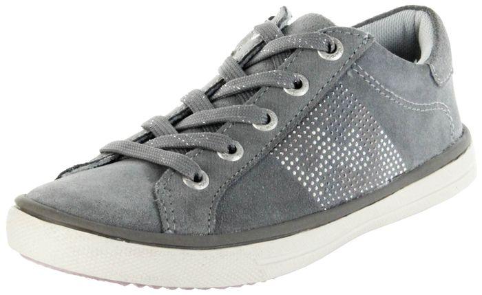 Lurchi Kinder Halbschuhe Sneaker grau Velourleder Mädchen Schuhe 33-13621-25 Shirin