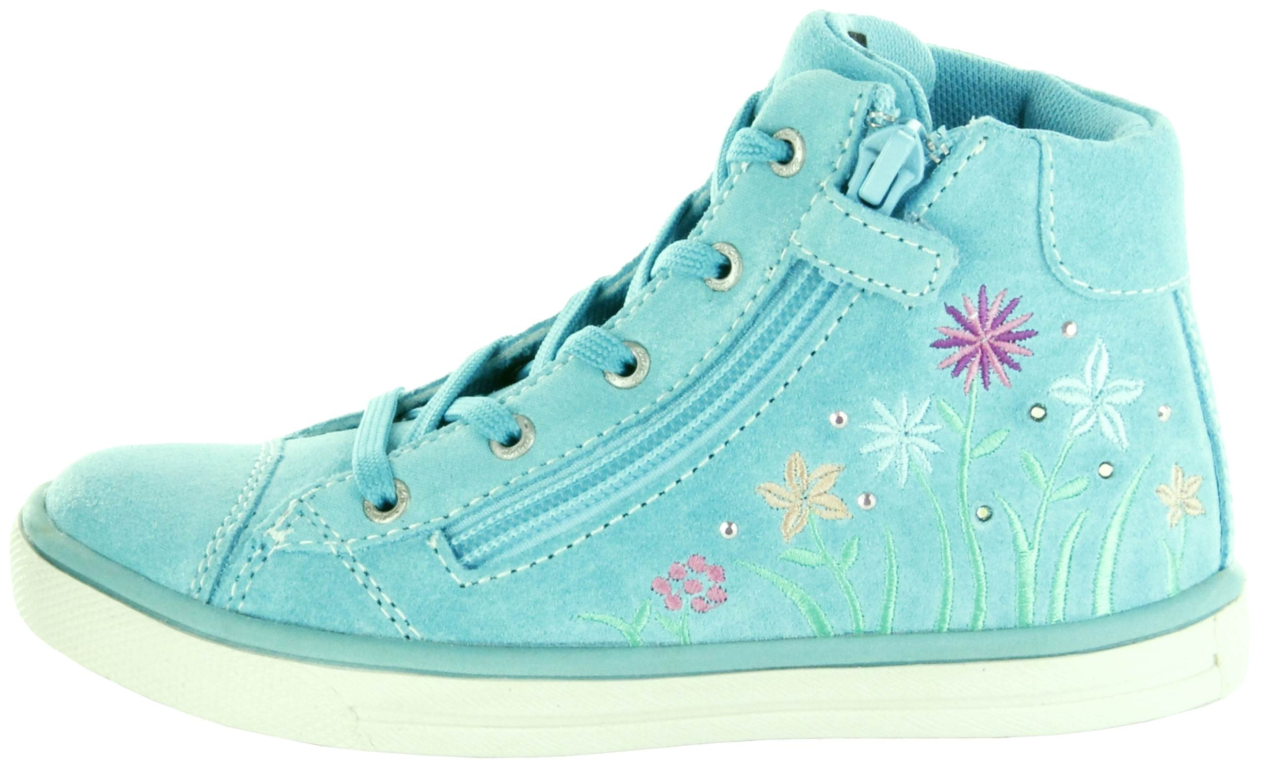 san francisco a48d8 a1360 Lurchi Kinder Halbschuhe Sneaker Blinki türkis Velourleder Mädchen Schuhe  33-13640-29 Aqua Summi