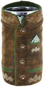 Bergheimer Trachten Weinkühler im Trachtenlook aus Ziegen-Leder - Jacke grün – Bild 1