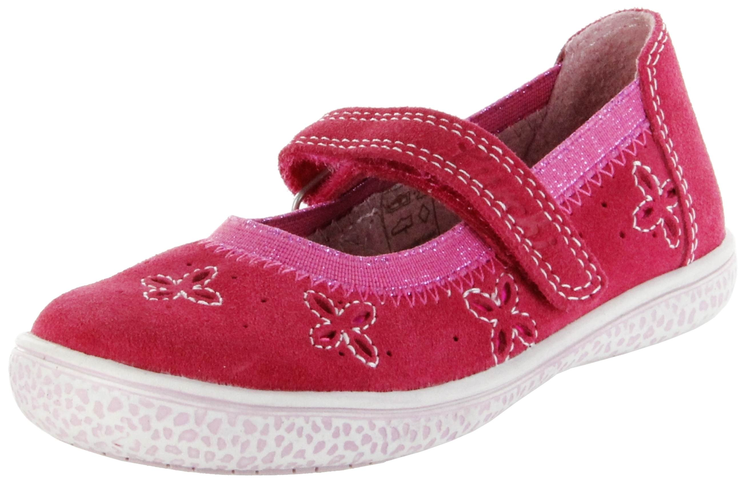 a7147da28c35cd Lurchi Kinder Ballerinas pink Velourleder Mädchen Schuhe 33-15270-43 Tiffi