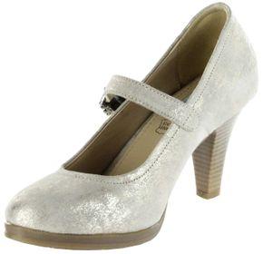 Bergheimer Trachtenschuhe Trachten Pumps gold Velourleder Damen Schuhe Susi  – Bild 8