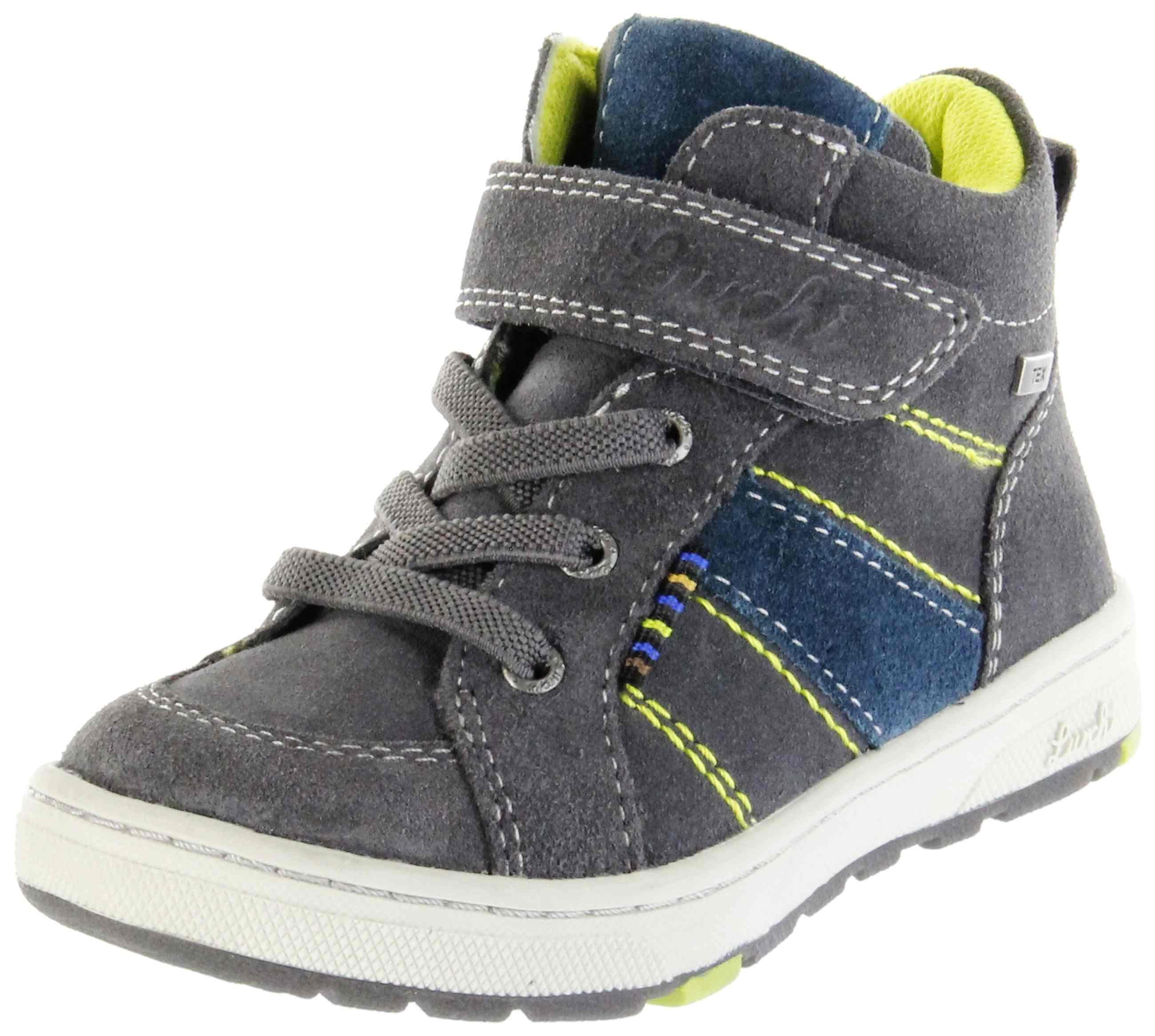 Lurchi Kinder Halbschuhe grau Velourleder Jungen Schuhe 33 13507 25 charcoal DET TEX
