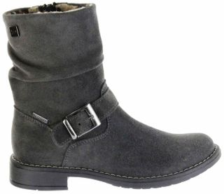 Richter Kinder Winter Stiefel grau Velourleder RichTex Warm Mädchen 4251-441-6500 steel Mary – Bild 2