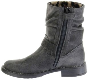 Richter Kinder Winter Stiefel grau Velourleder RichTex Warm Mädchen 4251-441-6500 steel Mary – Bild 5