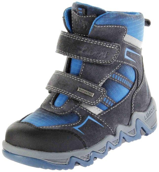 Lurchi Kinder Stiefel grau Velourleder Jungen Boots 33-29309-25 charcoal SASCHA-Sympatex