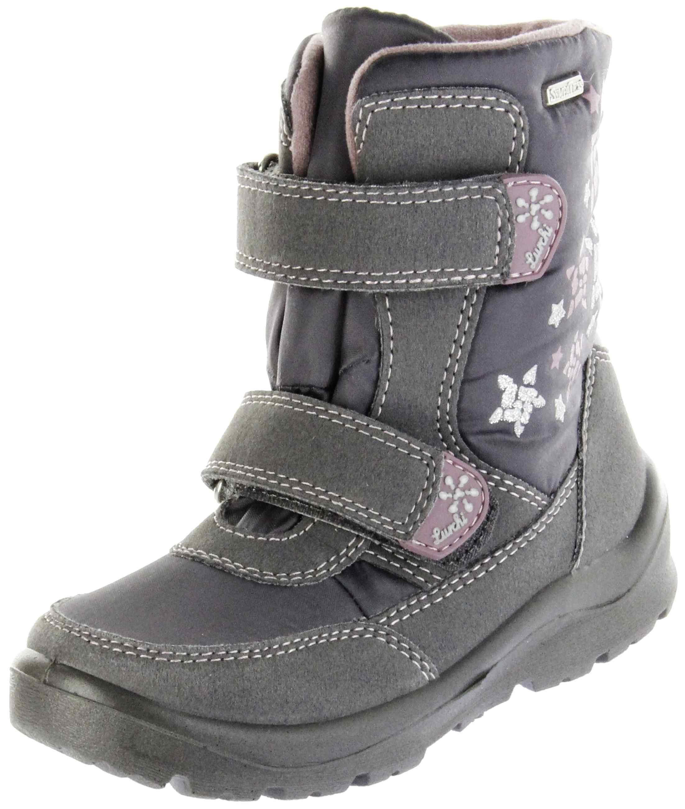 new concept 57260 4cad8 Lurchi Kinder Winterstiefel grau SympaTex Mädchen Schuhe 33-31017-69 steel  dk. pink KELLY-TEX