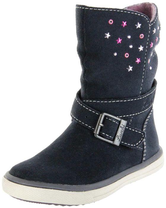 Lurchi Kinder Stiefel blau Velourleder Mädchen Schuhe 33-13604-22 atlantic CINA-TEX