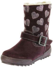 Lurchi Kinder Stiefel violett Velourleder Mädchen Schuhe 33-14627-43 burgundy LUNI-TEX – Bild 1