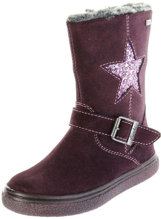 Lurchi Kinder Stiefel violett Velourleder Mädchen Schuhe 33-15019-23 burgundy GUDY-TEX