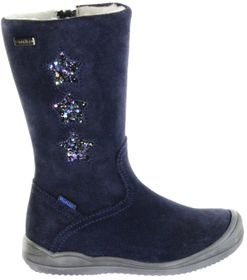 Richter Kinder Winter Stiefel blau Velourleder SympaTex Warm Mädchen 4952-442-7200 atlantic Stella – Bild 2
