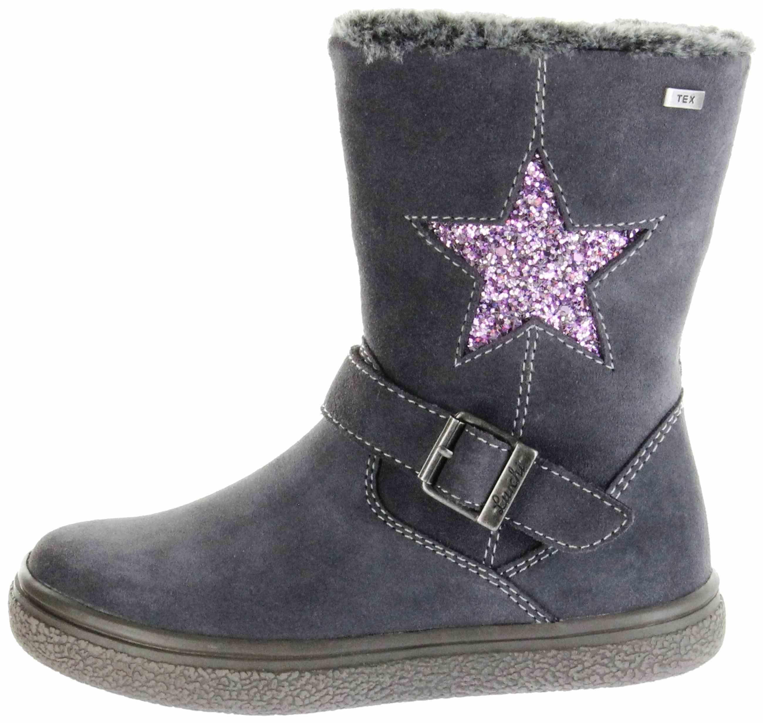 Lurchi Kinder Stiefel grau Velourleder Mädchen Schuhe 33 ...