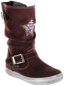 Richter Kinder Winter Stiefel rot Velourleder Warm SympaTex Mädchen WMS 4454-441-7610 burgundy Ilva
