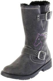 Lurchi Kinder Stiefel grau Velourleder Mädchen Schuhe 33-16522-25 charcoal HEIDI-TEX – Bild 1