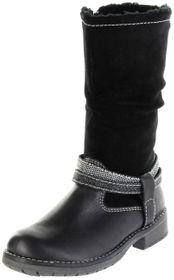 Lurchi Kinder Stiefel schwarz Leder Mädchen Schuhe 33-17021-01 black LIA-TEX