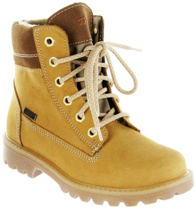 Richter Kinder Winter Stiefel beige Nubukleder Warm SympaTex Jungen Schuhe 7623-443-5110 mustard Dragon