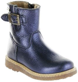 Richter Kinder Winter Boots Stiefel blau Warm Metallicleder RichTex Mädchen 4751-441-7200 atlantic Audi – Bild 1