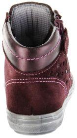 Richter Kinder Halbschuhe Blinkies Sneaker rot Velourleder Mädchen-Schuhe 4449-441-7611 burgundy Ilva – Bild 3
