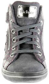 Richter Kinder Halbschuhe Blinkies Sneaker grau Velourleder Mädchen Schuhe 4449-441-6301 ash Ilva – Bild 6