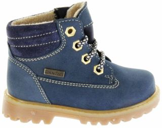 Richter Kinder Lauflerner-Stiefel Warm blau Nubukleder SympaTex Jungen 1222-441-7201 atlantic Pragon – Bild 2