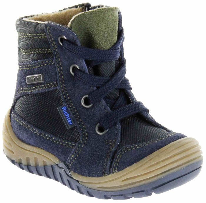 Richter Kinder Lauflerner-Stiefel Velour Warm blau SympaTex Jungen Schuhe 1021-441-7201 atlantic Marvis S