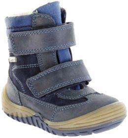 Richter Kinder Lauflerner-Stiefel Glattleder Warm blau SympaTex Jungen Schuhe 1032-441-7201 atlantic Marvis S – Bild 1