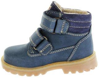 Richter Kinder Lauflerner-Stiefel SympaTex blau Nubukleder Jungen Schuhe 1232-441-7201 atlantic Pragon   – Bild 5