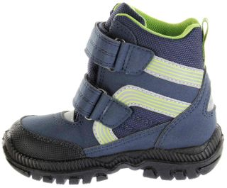 Richter Kinder Winter Stiefel Boots Blinkies blau SympaTex Warm Jungen Schuhe 8533-441-7201 atlantic WMS Tundra – Bild 5