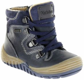 Richter Kinder Winter Stiefel Boots Glattleder blau RichTex Jungen Schuhe 6721-441-7200 atlantic Marvis – Bild 1