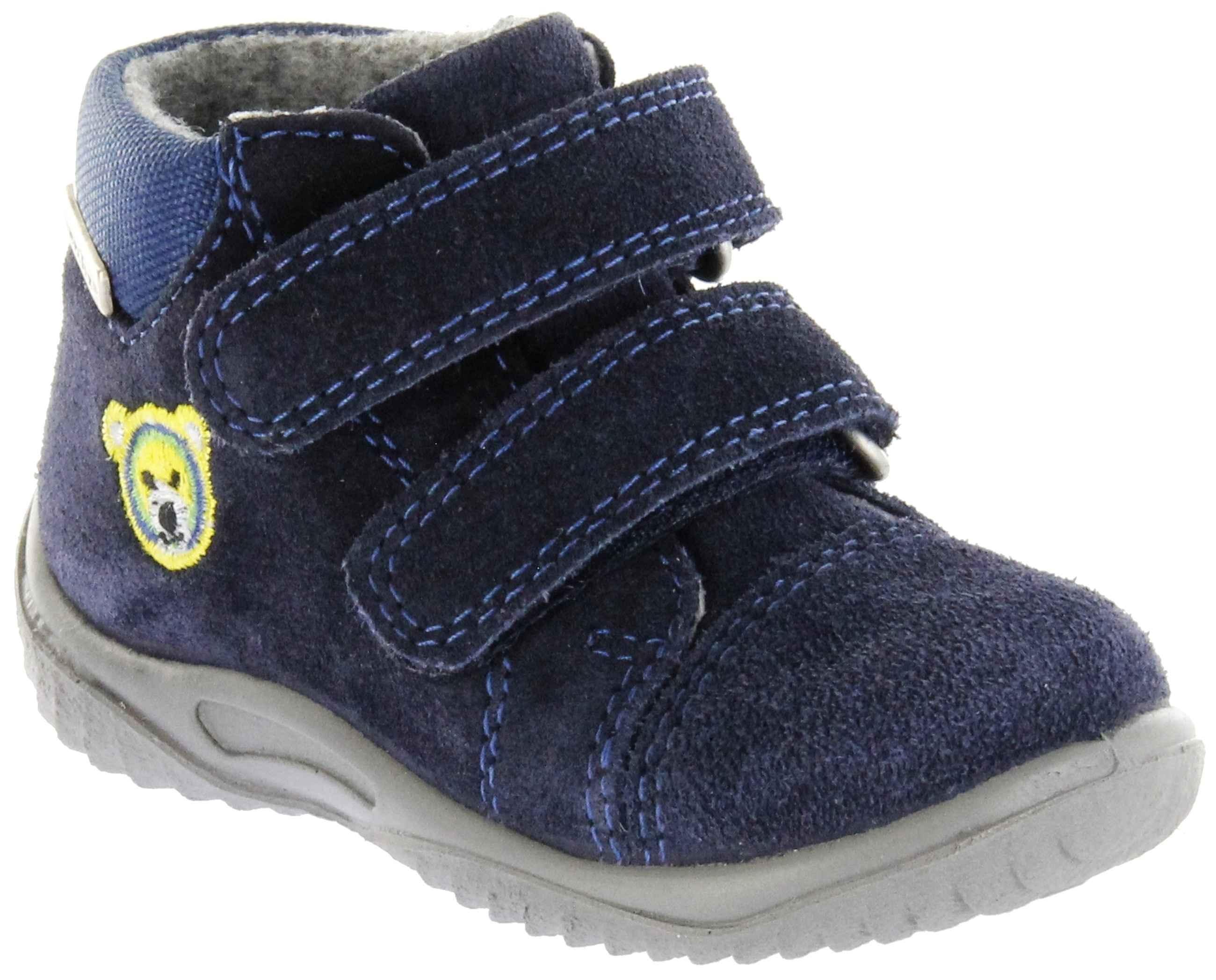 Richter Kinder Lauflerner blau Velourleder Sympatex Jungen Schuhe 1124-242-7201 Atlantic Info S