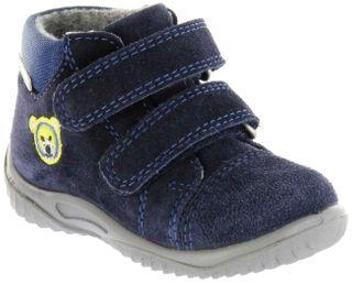 Richter Kinder Lauflerner blau SympaTex Velour Jungen Schuhe 0436-441-7201 atlantic Mogli – Bild 1