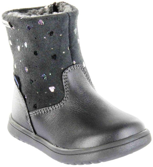 Richter Kinder Lauflerner-Stiefel SympaTex Warm Leder grau Mädchen Schuhe 1450-444-9601 oldsilver Boston