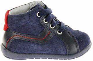 Richter Kinder Minis blau Velourleder Schnürer Jungen Schuhe 0028-441-7201 atlantic Duplo – Bild 2