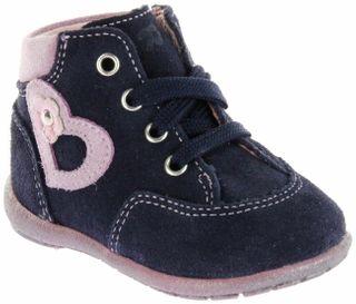 Richter Kinder Minis blau Velourleder Schnürer Mädchen-Schuhe 0024-442-7202 atlantic Duplo – Bild 1