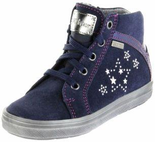 Richter Kinder Halbschuhe Sneaker blau Velourleder Warm Mädchen Schuhe SympaTex 4447-442-7202 atlantic Ilva – Bild 1