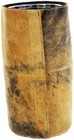 Bergheimer Trachten Weinkühler im Trachtenlook aus Ziegenleder - Hirsch Leder braun – Bild 3