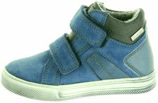Richter Kinder Halbschuhe Sneaker blau Warm Leder Sympatex Jungen Schuhe 6539-441-6811 pacific Ola – Bild 2