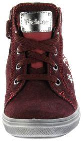 Richter Kinder Halbschuhe Sneaker rot Velourleder Mädchen-Schuhe Warm SympaTex 4447-442-7611 burgundy Ilva – Bild 6