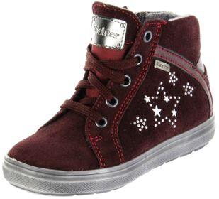 Richter Kinder Halbschuhe Sneaker rot Velourleder Mädchen-Schuhe Warm SympaTex 4447-442-7611 burgundy Ilva – Bild 1