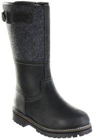Bergheimer Trachtenschuhe Stiefel schwarz Leder Filz Herren Schuhe Tauern – Bild 1