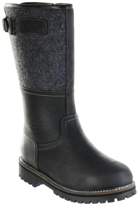 Bergheimer Trachtenschuhe Stiefel schwarz Nubukleder Filz Herren Schuhe Tauern