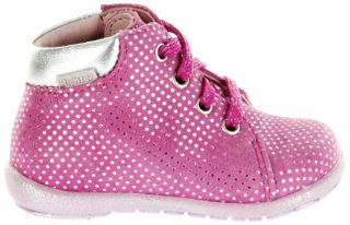 Richter Kinder Minis pink Velourleder Schnürer Mädchen Schuhe 0020-543-3301 passion Duplo – Bild 2