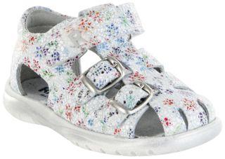 Richter Kinder Lauflerner-Sandalen Leder weiß Mädchen Schuhe 2601-544-0400 panna Babel – Bild 1