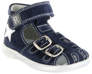 Richter Kinder Lauflerner-Sandalen blau Velourleder Jungen Schuhe 2604-541-7200 atlantic Babel