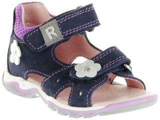 Richter Kinder Lauflerner-Sandalen blau Velourleder Mädchen Schuhe 2302-542-7202 atlantic Jumbo – Bild 1