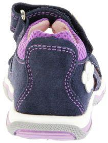 Richter Kinder Lauflerner-Sandalen blau Velourleder Mädchen Schuhe 2302-542-7202 atlantic Jumbo – Bild 3
