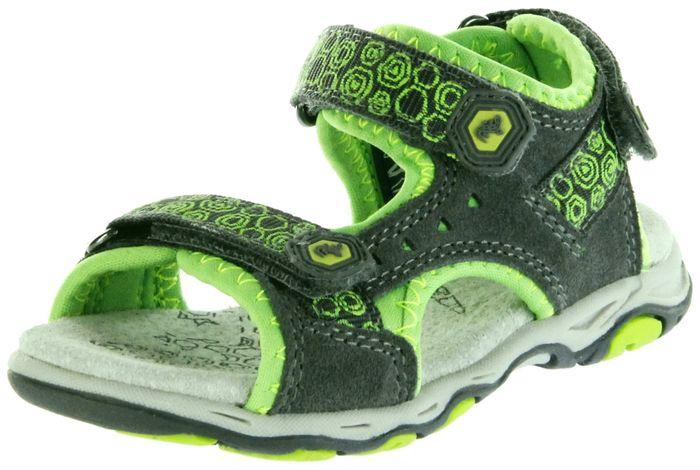 Lurchi Kinder Outdoor Sandaletten grau Leder Jungen Schuhe 33-21115-45 dk. grey green Brian